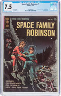Silver Age (1956-1969):Science Fiction, Space Family Robinson #1 (Gold Key, 1962) CGC VF- 7.5 Off-white to white pages....