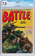Golden Age (1938-1955):War, Battle #13 (Atlas, 1952) CGC FN/VF 7.0 Off-white to white pages....