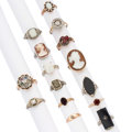 Estate Jewelry:Rings, Diamond, Multi-Stone, Gold Rings . ... (Total: 15 Items)