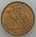 Expositions and Fairs, Undated (1893) Dahomey Village Token MS MS62 Uncertified. Brass. 33mm. Man riding a camel on the obverse with GOOD FOR ONE...