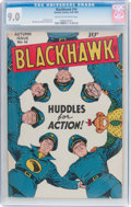 Golden Age (1938-1955):Superhero, Blackhawk #16 (Quality, 1947) CGC VF/NM 9.0 Cream to off-white pages....