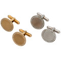 Estate Jewelry:Cufflinks, Diamond, Gold Cuff Links . ... (Total: 2 Items)