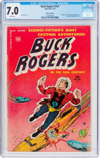 Buck Rogers #101 (#8) (Toby Publishing, 1951) CGC FN/VF 7.0 White pages