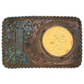Estate Jewelry:Other, Gold Coin, Gold, Sterling Silver Belt Buckle, Boyd . ...