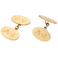 Estate Jewelry:Cufflinks, Gold Cuff Links, Bvlgari . ...