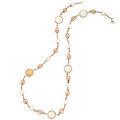 Estate Jewelry:Necklaces, White Onyx, Rose Gold Necklace  The necklace f...