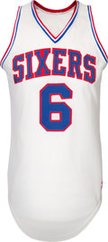 "Basketball Collectibles:Uniforms, 1980's Julius ""Dr. J"" Irving Game Worn Philadelphia 76ers Jersey...."