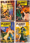 Pulps:Science Fiction, Planet Stories Group of 6 (Fiction House, 1946-53) Condition:Average GD/VG.... (Total: 6 Items)