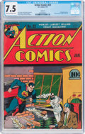 Golden Age (1938-1955):Superhero, Action Comics #32 Rockford Pedigree (DC, 1941) CGC VF- 7.5 Cream to off-white pages....