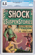 Golden Age (1938-1955):Horror, Shock SuspenStories #17 (EC, 1954) CGC FN- 5.5 Off-white pages....