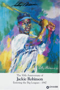 Baseball Collectibles:Others, LeRoy Neiman Signed Jackie Robinson Poster. This poster was printedin 1996 to honor the 50th Anniversary of Jackie Robinson...
