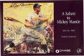 Baseball Collectibles:Others, LeRoy Neiman Signed Mickey Mantle Day Poster. LeRoy Neiman did theposter for Mickey Mantle Day at Yankee Stadium July 38, 1...