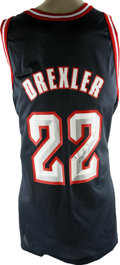 Basketball Collectibles:Others, Clyde Drexler Signed Houston Rockets Jersey. A ten time All-Starand member of the Basketball Hall of Fame, Clyde Drexler a...