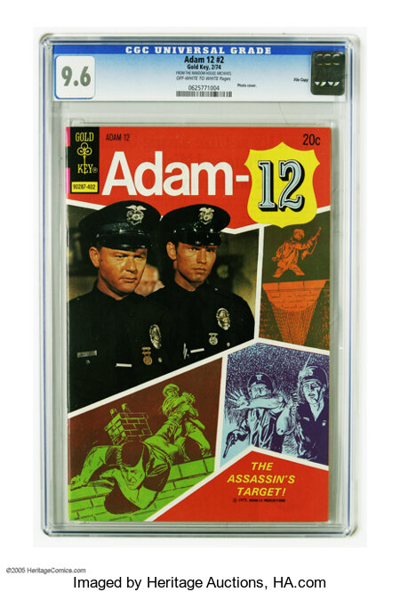 Adam 12 #2 File Copy (Gold Key, 1974) CGC NM+ 9.6 Off-white to white pages. Photo cover. Highest grade yet assigned by CGC f...