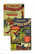 Silver Age (1956-1969):Superhero, The Amazing Spider-Man #9 and 10 Group (Marvel, 1964). Two fiendish first appearances are presented here: Electro in #9 (VG/... (Total: 2 Comic Books)