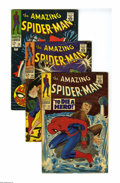 Silver Age (1956-1969):Superhero, The Amazing Spider-Man Group (Marvel, 1967-68) Condition: Average VG+. Includes #52, 54, 58, 60, 61, and 63. Covers and art ... (Total: 6 Comic Books)
