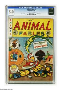Animal Fables #7 (EC, 1947) CGC VG/FN 5.0 Off-white to white pages. Origin of Moon Girl, drawn by Sheldon Moldoff. Last...
