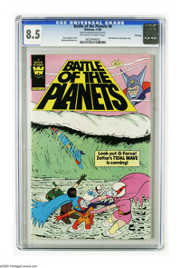 Battle of the Planets #8 File Copy (Gold Key, 1980) CGC VF+ 8.5. Distributed in multi-packs only. Win Mortimer art. Over...