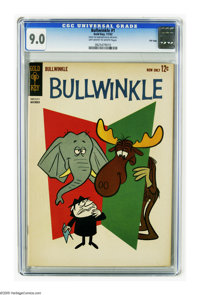 Bullwinkle #1 File Copy (Gold Key, 1962) CGC VF/NM 9.0 Off-white to white pages. Tied with two other copies for highest-...