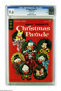 Christmas Parade #1 File Copy (Gold Key, 1962) CGC NM+ 9.6 Off-white pages. Mickey Mouse, Donald Duck, and other Disney...