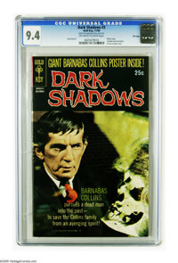 Dark Shadows #3 File Copy (Gold Key, 1969) CGC NM 9.4 Off-white to white pages. Photo cover. Includes pull-out poster. P...
