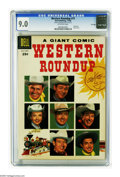 Silver Age (1956-1969):Western, Dell Giant Comics Western Roundup #15 File Copy (Dell, 1956) CGC VF/NM 9.0 Off-white pages. Photo cover. Overstreet 2005 VF/...