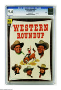 Golden Age (1938-1955):Western, Dell Giant Comics Western Roundup #3 File Copy (Dell, 1953) CGC NM 9.4 Off-white pages. Photo cover. Outstanding copy. Highe...