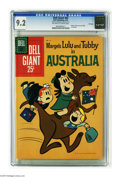"""Dell Giants #42 """"Little Lulu and Tubby in Australia"""" - File Copy (Dell, 1961) CGC NM- 9.2. Featuring Marge's L..."""
