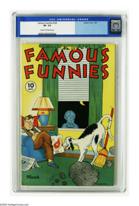 Famous Funnies #128 (Eastern Color, 1945) CGC VF- 7.5 Cream to off-white pages. Only one copy of this issue has earned a...