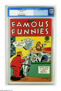 Famous Funnies #140 (Eastern Color, 1946) CGC VF 8.0 Cream to off-white pages. Just one copy of this issue has received...