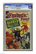 Silver Age (1956-1969):Superhero, Fantastic Four #30 (Marvel, 1964) CGC VF 8.0 Cream to off-white pages. First appearance of Diablo. Jack Kirby cover. Kirby a...