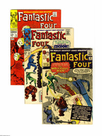 Fantastic Four Group (Marvel, 1963-68). This group contains issues #20 (GD-), 67 (FN+), and 75 (VF). Issue 20 features t...