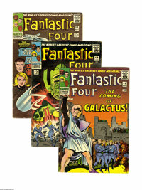 "Fantastic Four #48-50 Group (Marvel, 1966). This is the entire ""Galactus Trilogy, "" issues #48 (VG/FN), 49 (VG..."