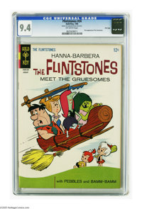 Flintstones #24 File Copy (Gold Key, 1965) CGC NM 9.4 Off-white pages. First appearance of the Gruesomes. Overstreet 200...