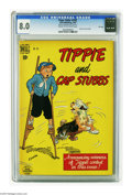 Golden Age (1938-1955):Humor, Four Color #242 Tippie and Cap Stubbs - File Copy (Dell, 1949) CGC VF 8.0 Cream to off-white pages. Overstreet 2005 VF 8.0 v...
