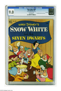 Four Color #382 Snow White and the Seven Dwarfs - File Copy (Dell, 1952) CGC VF/NM 9.0 Off-white pages. Overstreet 2005...