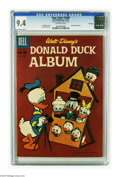 Silver Age (1956-1969):Cartoon Character, Four Color #1099 Donald Duck Album - File Copy (Dell, 1960) CGC NM 9.4 Off-white pages. Carl Barks cover art. Overstreet 200...