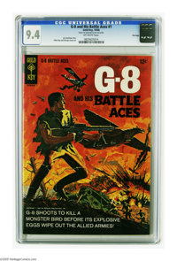G-8 and his Battle Aces #1 File Copy (Gold Key, 1966) CGC NM 9.4 Off-white pages. Mike Roy and George Evans art. Overstr...