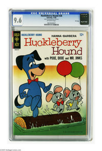 Huckleberry Hound #28 File Copy (Gold Key, 1966) CGC NM+ 9.6 Off-white pages. Highest grade yet assigned by CGC for this...