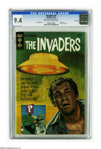 The Invaders #1 File Copy (Gold Key, 1967) CGC NM 9.4 Off-white to white pages. Photo cover. Back cover pin-up. Overstre...