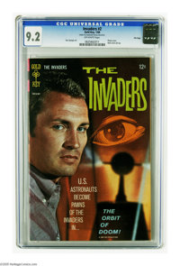 The Invaders #2 File Copy (Gold Key, 1968) CGC NM- 9.2 Off-white pages. Photo cover. Back cover pin-up. Dan Spiegle art...