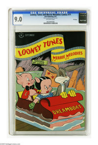 Looney Tunes and Merrie Melodies Comics #71 File Copy (Dell, 1947) CGC VF/NM 9.0 Off-white pages. Bugs Bunny and Porky P...