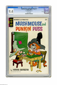 Mushmouse and Punkin Puss #1 File Copy (Gold Key, 1965) CGC NM 9.4 Off-white pages. Overstreet 2005 NM- 9.2 value = $135...