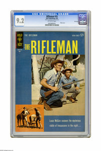 The Rifleman #15 File Copy (Gold Key, 1963) CGC NM- 9.2 Off-white pages. Chuck Conners photo cover. Overstreet 2005 NM-...
