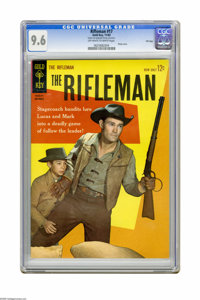 The Rifleman #17 File Copy (Gold Key, 1963) CGC NM+ 9.6 Off-white to white pages. Chuck Conners photo cover. Overstreet...