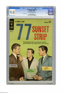77 Sunset Strip #1 File Copy (Gold Key, 1962) CGC VF/NM 9.0 Off-white to white pages. Photo cover. Russ Manning art. Ove...