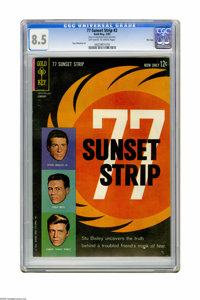 77 Sunset Strip #2 File Copy (Gold Key, 1963) CGC VF+ 8.5 Off-white to white pages. Photo cover. Russ Manning art. Overs...