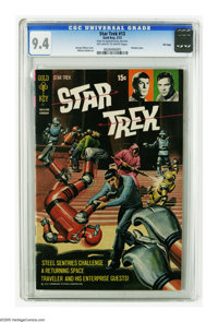 Star Trek #13 File Copy (Gold Key, 1972) CGC NM 9.4 Off-white to white pages. Painted cover by George Wilson. Alberto Gi...