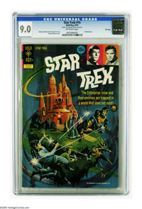 Star Trek #15 File Copy (Gold Key, 1972) CGC VF/NM 9.0 Off-white pages. Painted cover by George Wilson. Alberto Giolitti...