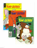 Bronze Age (1970-1979):Cartoon Character, Tom and Jerry Group (Gold Key, 1969-1980) COndition: Average VF.This full short box contains Tom and Jerry #219 (eight ...